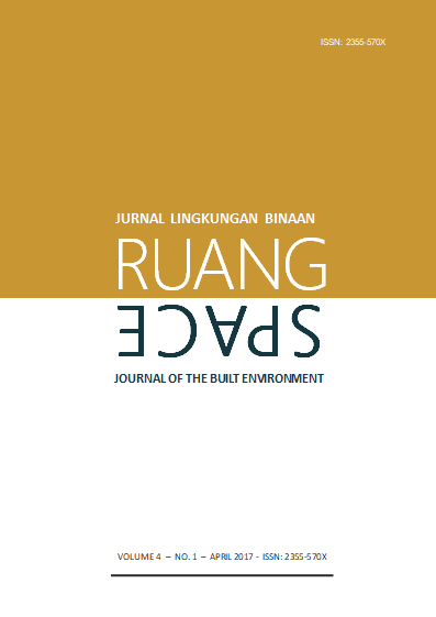 eJurnal Ruang-Space, Volume 4 No 1 April 2017