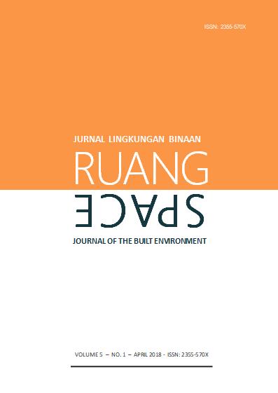 eJurnal Ruang-Space, Volume 5 No 1 April 2018