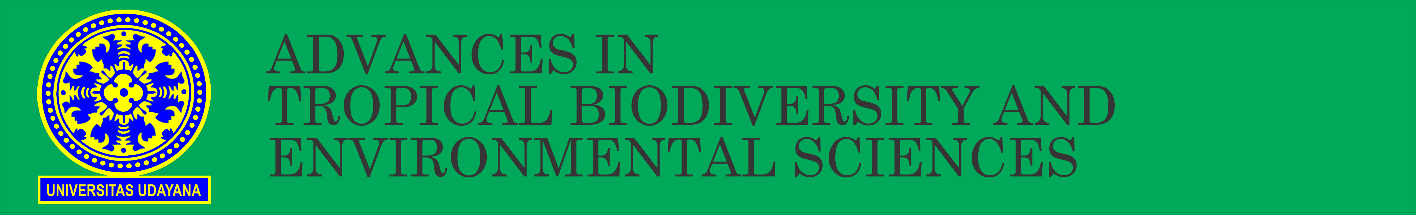 Header ATBES - Advances in Tropical Biodiversity and Environmental Sciences