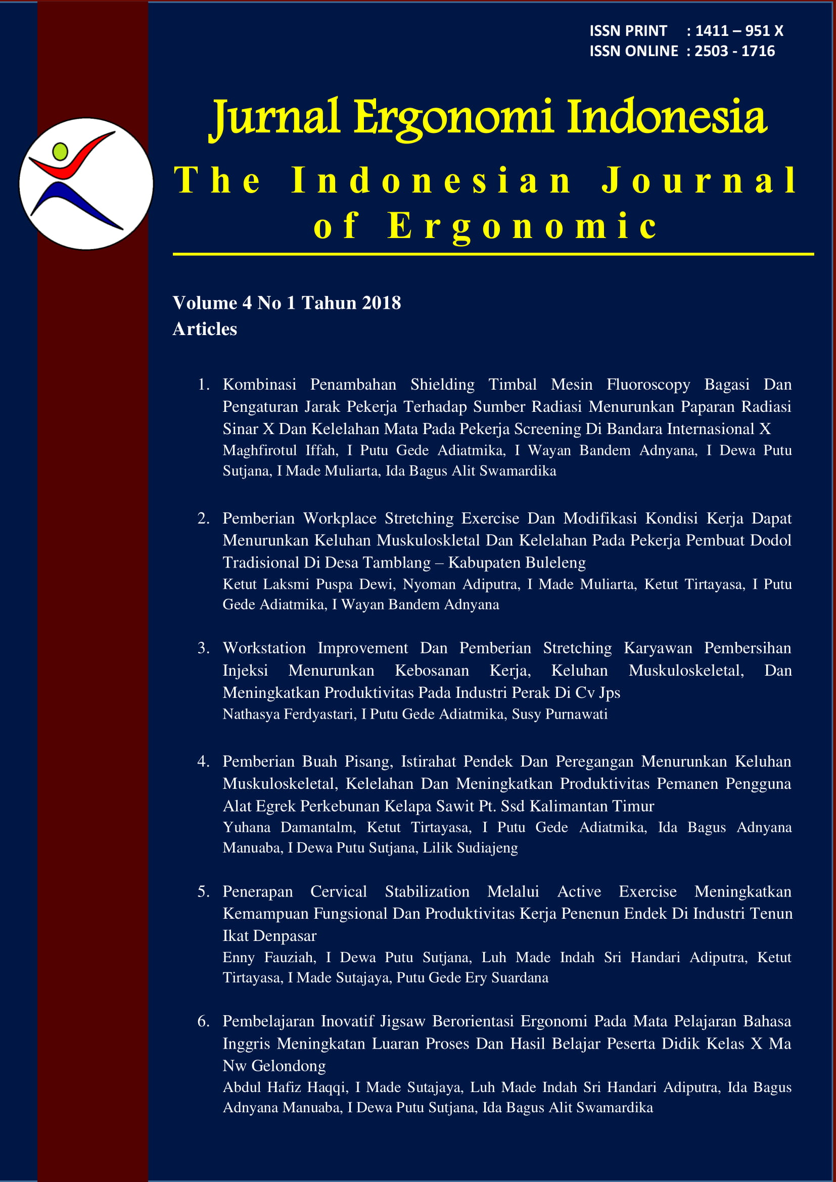 Archives Jurnal Ergonomi Indonesia The Indonesian Journal Of Ergonomic